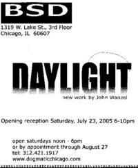 Daylight, show card back