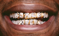 Hank Willis Thomas, Black Power Teeth, 2009