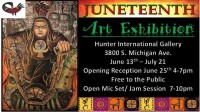 Chicago(25June2016) Bronzeville, Hunter International Gallery, Juneteenth, B Rael Ali, Shahar Weaver, Liz Gomez, Alpha Burton, Alan Emerson Hicks,