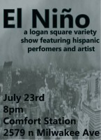 Chicago(23 July 2016) Logan Square, Comfort Station Logan Square, El Nino, Carlos Luna, Nick Simon, Elizabeth Gomez,improñol, Justin Golak, Jimmy Gribbin,  Anthony Hernandez, Lisa Peters