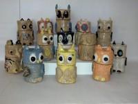 Villa Park (16 July 2016) Salt Creek Pottery, Owl Covered Jar