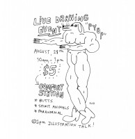 Chicago, Logan Square, Comfort Station, Comfort Society Presents Live Drawing by Rachal Duggan, Rachel Duggan