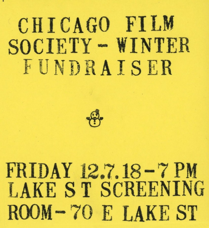Tags Chicago Film Society Winter Fundraiser Lake Street Screening Room Loop